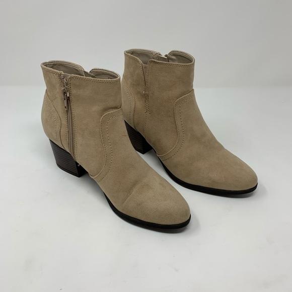Unisa Shoes   Beige Suede Ankle Booties